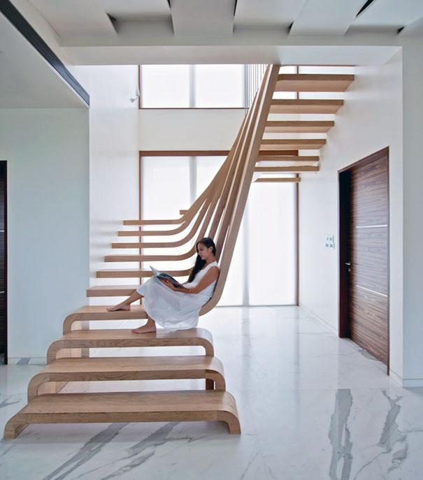 创意阁楼楼梯设计 走在创意里