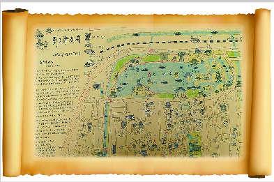 济南手绘旅游地图:老城图展现老济南风貌
