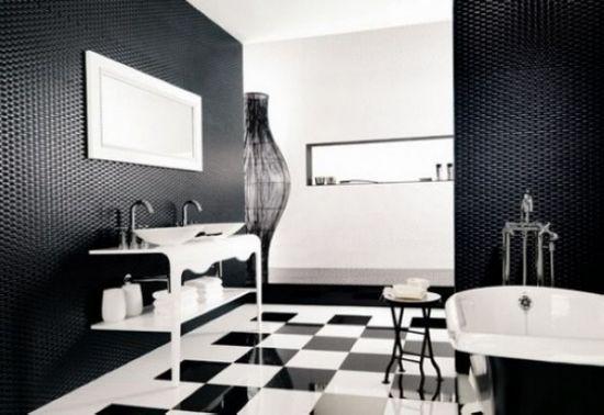 黑白经典碰撞 浴室设计创意无限