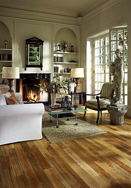 复古家居火热依旧 精致仿古地板演绎木质古韵