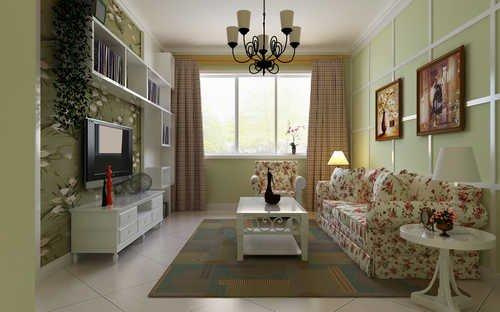 小客厅超强收纳电视背景墙 小户型装修效果图