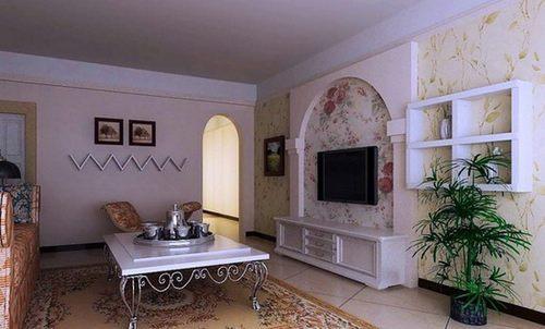 小客厅超强收纳电视背景墙