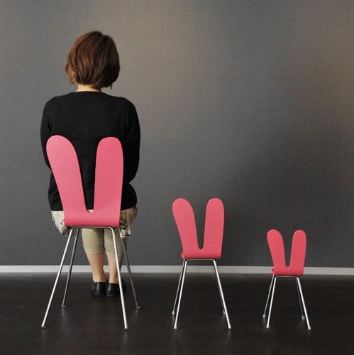 兔女郎椅子萌萌哒 精灵设计师打造灵气家具