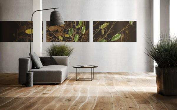 独一无二的自然弯曲木地板 为室内增添独特美感