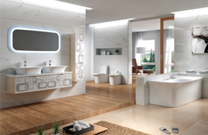 智能卫浴空间效果图