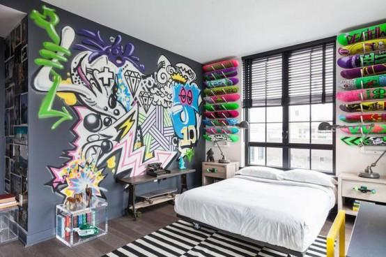 几乎适用于任何空间的涂鸦墙装饰24例图片