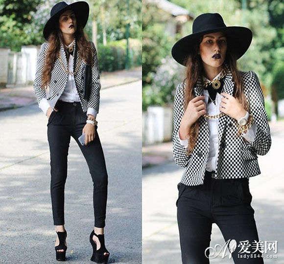 黑色/推荐搭配:针织外套+黑色紧身裤