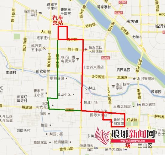 海绘制的K29路公交车线路图,对因施工绕线进行了详细标注,其中