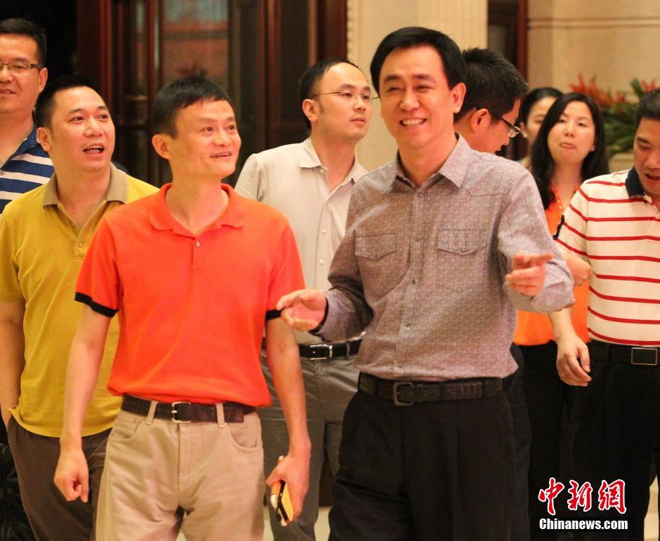 马云抵达广州恒大中心 会面许家印 广州频道