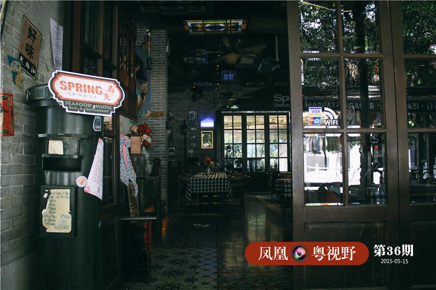 """街上几乎都为清一色的高端私房菜、酒吧,猎人坊曾想打造成广州""""兰桂坊"""",如今生意惨淡,似乎有点水土不服。"""