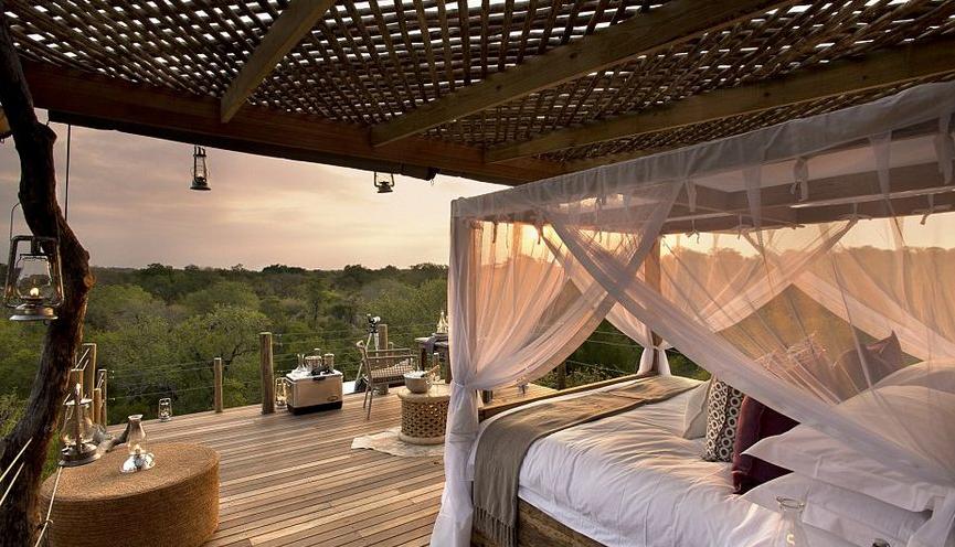 南非奢华露天树屋别墅酒店