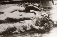 被日军集体屠杀的市民尸体