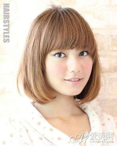 内扣发型图片齐刘海 齐刘海短发发型学生女 - 点击图片进入下一页