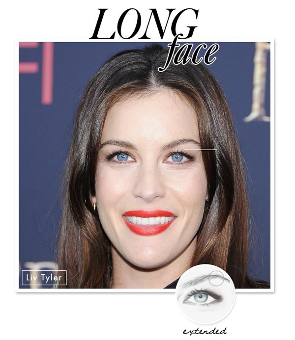 第二种:长脸 特点:额头高,下巴长 适合的眉型:加长眉型 长脸会给垂直和拉长的感觉,所以,横向拉长眉毛就会弥补了下垂的视觉效果,最好把眉弓延定位在外眼角上方,拖长眉尾,但也要注意把握尺寸,因为太长的眉尾会加强眼睛的下垂感。