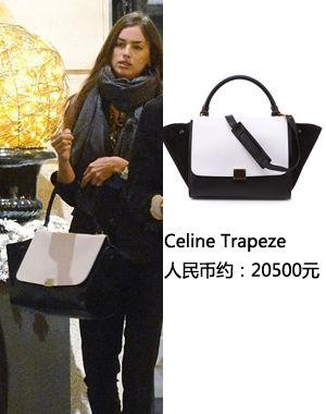 C罗女友in Celine手袋