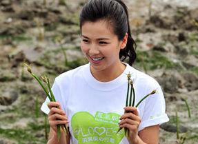 2012年4月28日美丽爱心行动厦门行:刘涛光脚踩淤泥关爱红树林