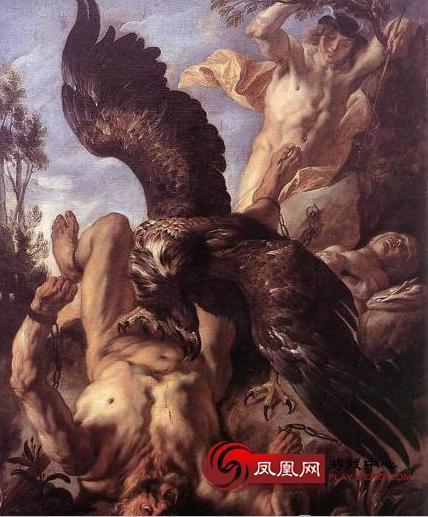 普罗米修斯被捆绑在山崖替人类受难
