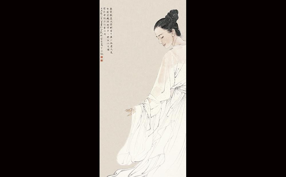 了无一点尘凡气·136cmx68cm(入选第九届中国艺术节全国优秀美术作品展。)