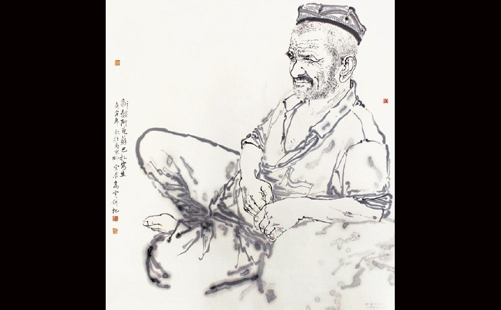 新疆写生之一·97cmx90cm(江苏省美术馆收藏。)