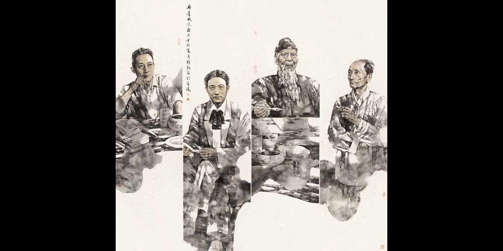 丹青风流-136cm×136cm