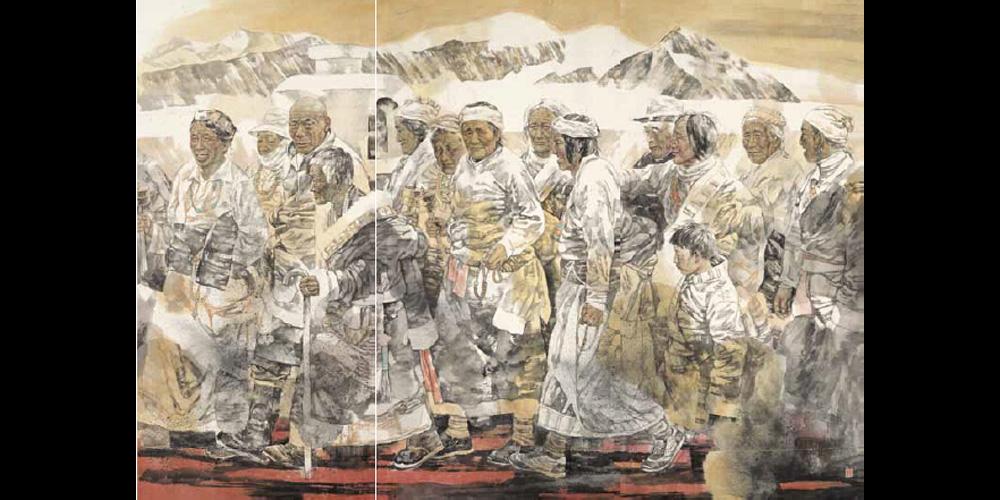 圣山祥云-200cm×270cm-入选第二届中国百家金陵画展