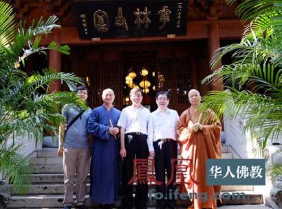 局局长王作安在上海龙华寺玉佛禅寺走访调研