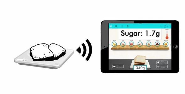 SITU智能电子称:告诉你食物的卡路里及营养成