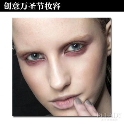 惨忍的红色眼眼妆,及毫无血色的双唇,这种简单的妆感也适合万圣节鬼魅