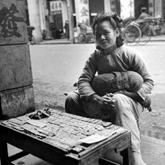 中华南路悠闲的摊贩