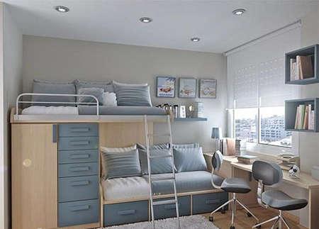 儿童房的4款装修设计 小户型巧省大空间