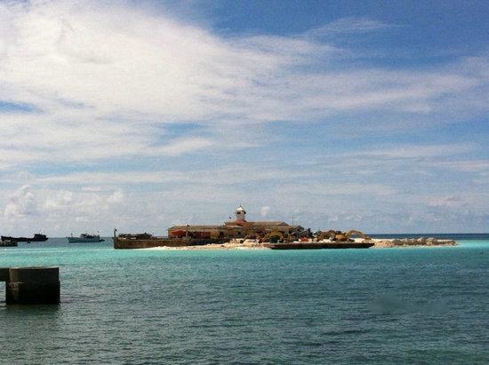 资料图:越南在南沙西礁填海造岛.