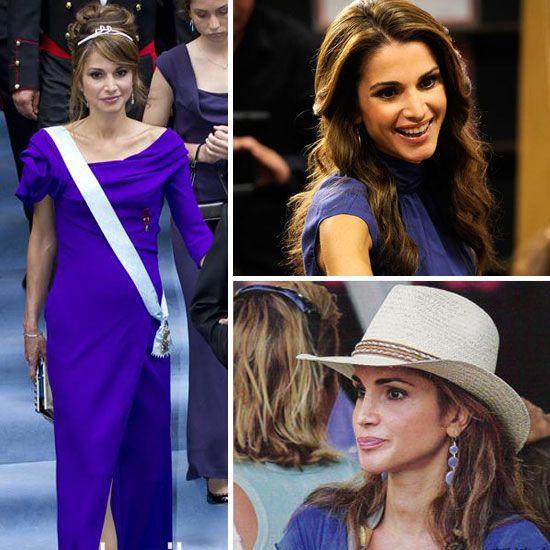 阿拉伯世界的戴安娜 Rania 风情万种 作为当今世界最年轻的王妃,约