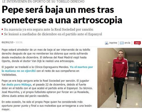 西班牙《马卡报》截图