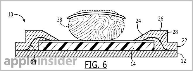 """苹果该专利名称为""""指纹感应器等内部冲模及凹形底座结构"""",该专利描述"""