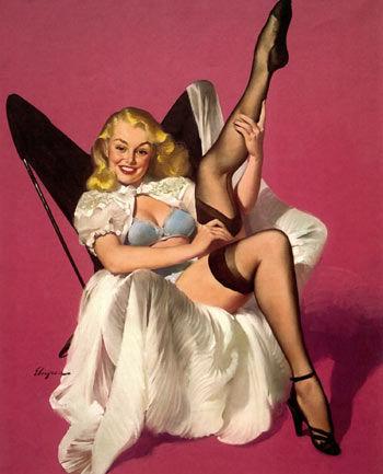 西方旧画报上的性感女郎