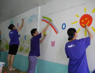 联邦快递15名志愿者在上周六携手非营利性组织&mdash
