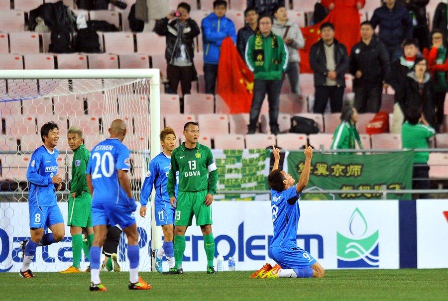 2012年3月6日,2012年亚冠联赛,蔚山现代2-1北京国安.