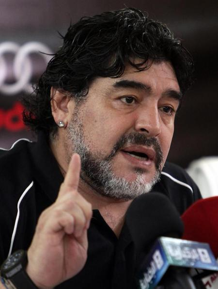 马拉多纳盛赞马蒂诺 他是给足球增光添彩的主帅