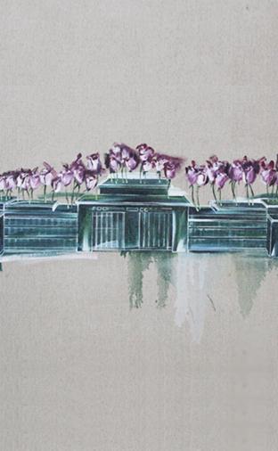 油画:《花盆》