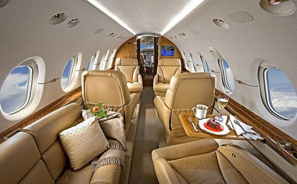 揭秘私人飞机内部装饰