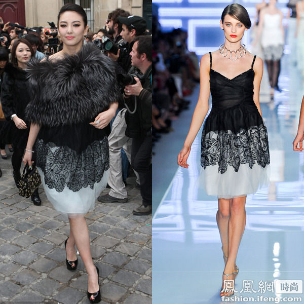 istian Dior 2012春夏亮相2012秋冬时装周Dior秀场:这套装扮很好图片