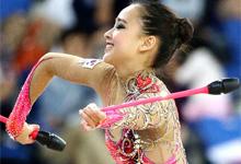 艺术体操团体韩国摘银 孙妍在靓丽出战