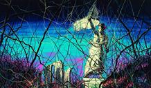 曾梵志新作亮相巴黎卢浮宫 比肩《自由引导人民》(图)