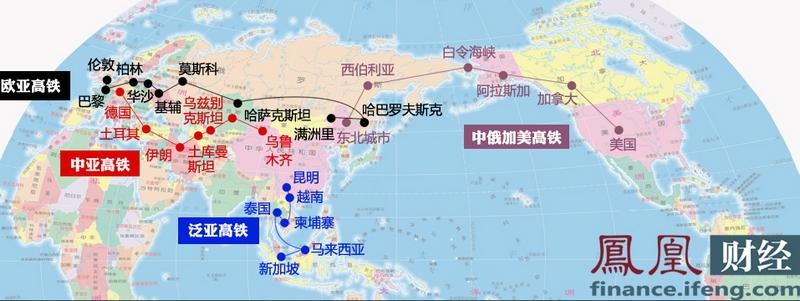 一张图看懂中国高铁有多强