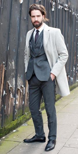 伦敦男装周街头潮人都爱叠搭 街头齐走绅士风