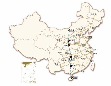 中西部首条纵向高铁连接七省 串起六大城市群(图)