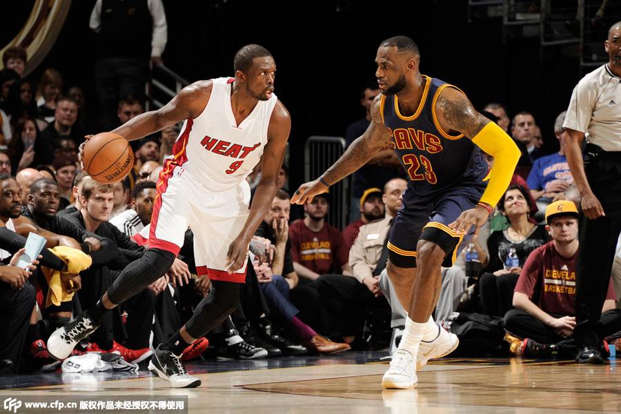 NBA常规赛:骑士VS热火