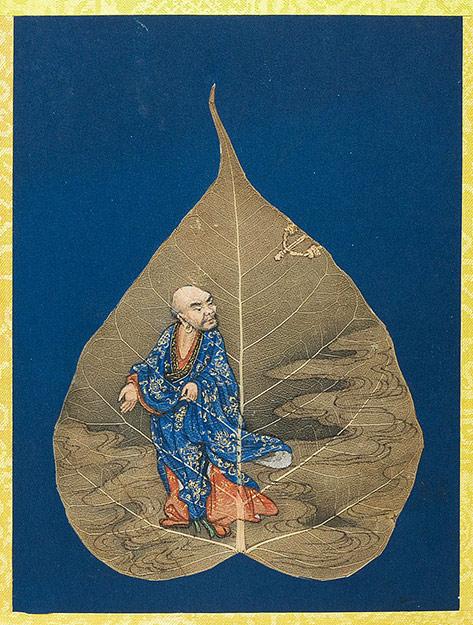 菩提叶彩绘十八罗汉 薄如蝉翼栩栩如生