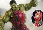 《复仇2》遭网友恶搞 众英雄穿张馨予同款花袄