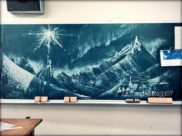 日本黑板报作品欣赏